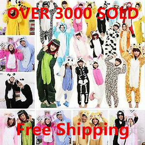 Adult-Unisex-Onesies-Kigurumi-Pajamas-Animal-Cosplay-Costume-Dress-Sleepwear