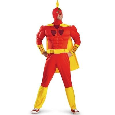 Adult TV Show The Simpsons Superhero Radioactive Man Classic Muscle Hero Costume