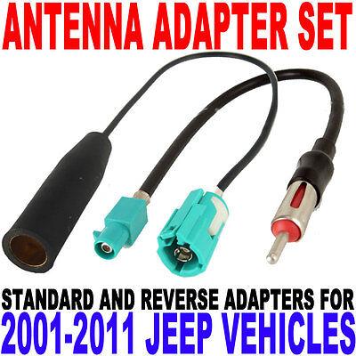 Jeep Antenna Adapter FM Modulator Wire Set 2001-2011 EU-6 + EU-7  MP3 XM Sirius