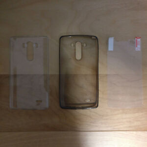 LG G3 Clear Plastic Cases and Screen Protector