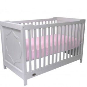 Kidiway Moon 4-in-1 Convertible Crib - White, Espresso & Grey