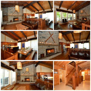 Winter Getaway - 9 Bed Blue Mountain Luxury Chalet with Hot Tub