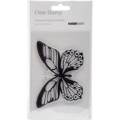 BACKGROUND MAJESTIC BUTTERFLY - Clear Stamp - Kaisercraft