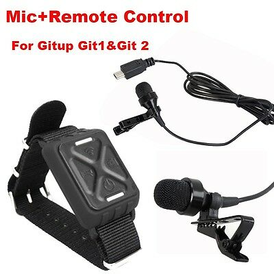 External Microphone+Remote Control Fr Gitup Git1 Git2 WiFi Sports Action Camera