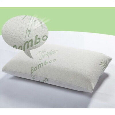 Hot Premium Bamboo Fiber Firm Hypoallergenic Memory Foam Pillow King Size -