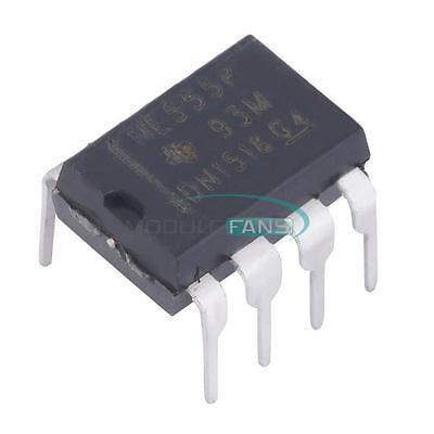 100pcs Ne555p Ne555 Dip-8 Single Bipolar Precision Timers Ic