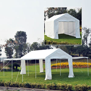 20'x10' Carport Party Tent Gazebo Canopy Shelter Sidewall & Door