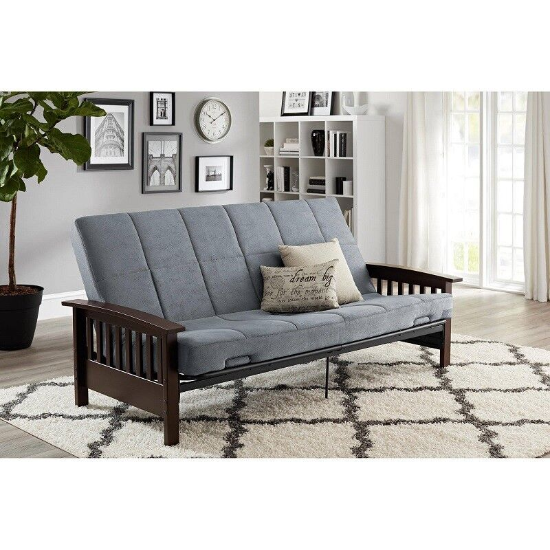 Futon Mattress Frame Couch Sofa Bed 6 Inch Thick Cushion Ful