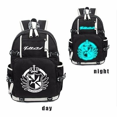 Unisex Night Light Schoolbag Dangan Ronpa Danganronpa Luminous Shoulder Backpack