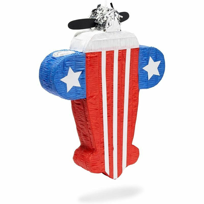 """Small Airplane Piñata for Patriotic Birthday Party, July 4, Veterans (17 x 13"""")"""