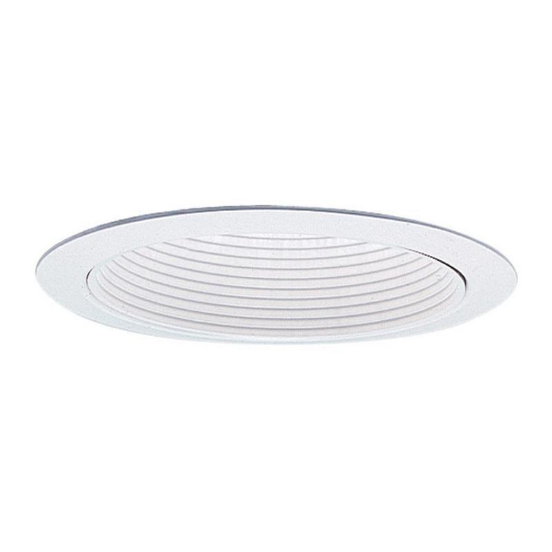 Lightolier 1176WH 6-3/4 Inch Down Light White Baffle Trim Round White Flange