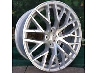 "18"" R8 Performance Alloys and tyres for 5x112 VW Audi Seat Etc"
