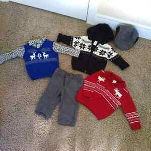 Gymboree Toddler Boys Christmas Clothes 12-18 months