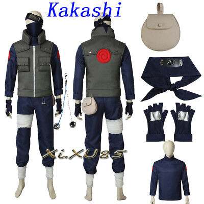 Kakashi Hatake Halloween Costume (Hot Anime NARUTO Kakashi Hatake Cosplay Costume Vest Only Customzie)