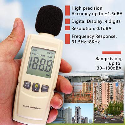 Digital Sound Decibel Meter Pressure Noise Level Tester Measurement 30~130dB LCD