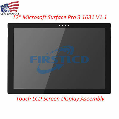 Microsoft Surface Pro 3 1631 V1.1  LTL120QL01 LED LCD Touch Screen Replacement
