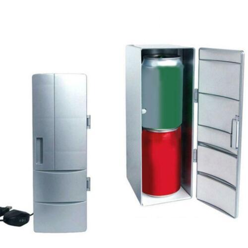 2 In 1 Car Fridge Hot & Cold Dual USB Car Refrigerator Drink
