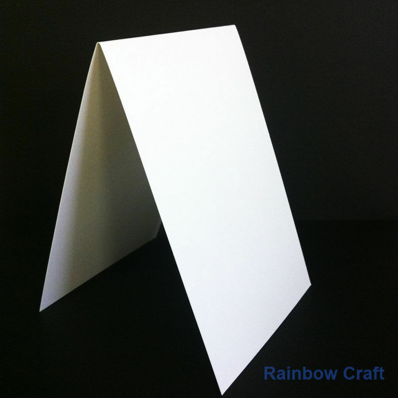 10 Blank Cards & Envelopes / Scallop Edge / step card / DL / Horizontal / Swing - Horizontal Card
