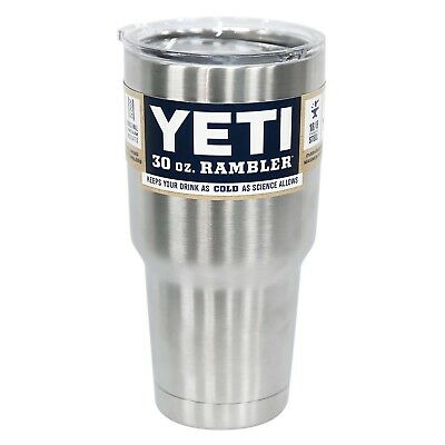 Yeti Rambler Stainless Steel Coffee Mug Cup Insulated 30oz Tumbler New