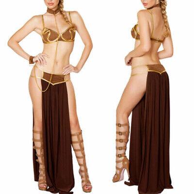 Cosplay Star Wars Princess Leia Slave Bikini Costume Sexy Women Dress Halloween - Princess Leia Costume Bikini