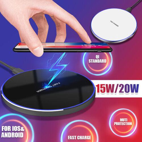 20w qi wireless fast charging pad metal