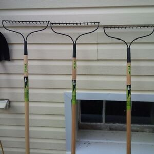 3 BRAND NEW AMES GRAVEL (GARDEN ) RAKES
