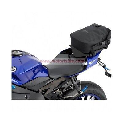 Bolsa trasera impermeable para motos enduro y motos trail color negro