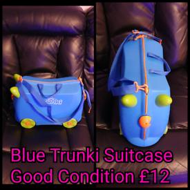 Blue Trunki Suitcase Good Condition.