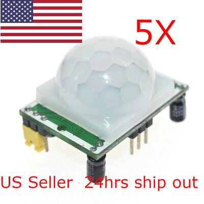 5x New Sr501 Adjust Ir Pyroelectric Infrared Ir Pir Motion Sensor