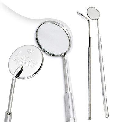 5 Mirror 5 Handle Size 4 Stainless Steel Dental Oral Hygeine Mouth Mirror -usa