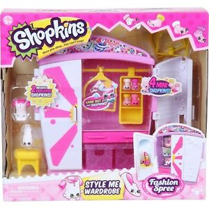 Brand New Shopkins Style Me Wardrobe Playset