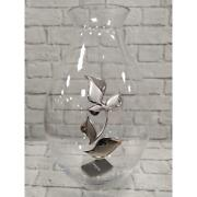 Vaso in cristallo con sotto vaso pierre car