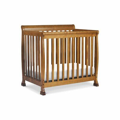 DaVinci Kalani Wood 4-in-1 Convertible Mini Crib and Twin Bed in Chestnut
