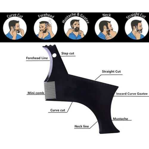 Beard Styling Shaping Template Comb Symmetry Line Up Guide T