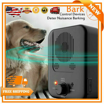 Anti Bark Device Ultrasonic Dog Barking Control Stop Repeller Trainer Tool US