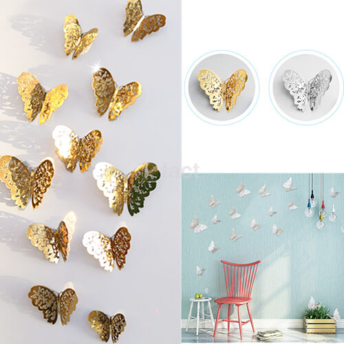12Pcs DIY Removable Butterfly Wall Sticker Decals Living Kids Room Home Decor US