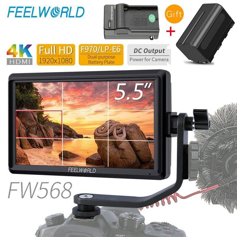 FEELWORLD FW568 4K HDMI On Camera Field DSLR Monitor Full HD