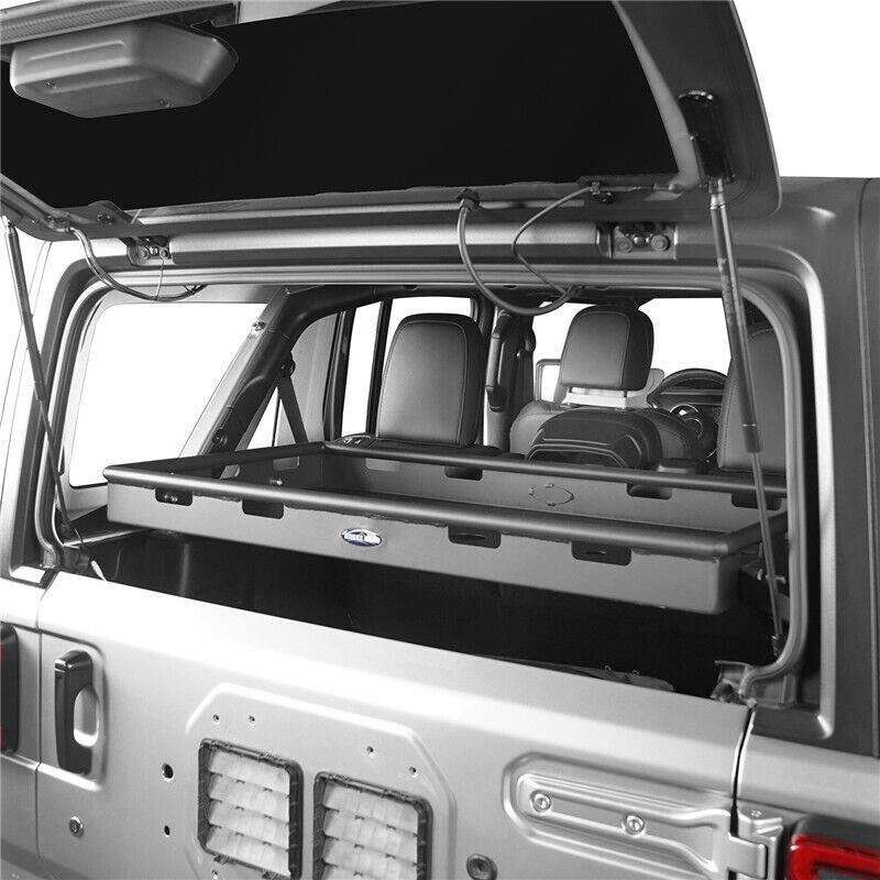 Black Rear Powder Coated Interior Cargo Rack for Jeep Wrangler JK 07-18 4Doors