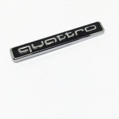 M6zlzwzl, 3D Car Quattro Logo Sticker Quattro Badge Chrome Emblem AUDI VW