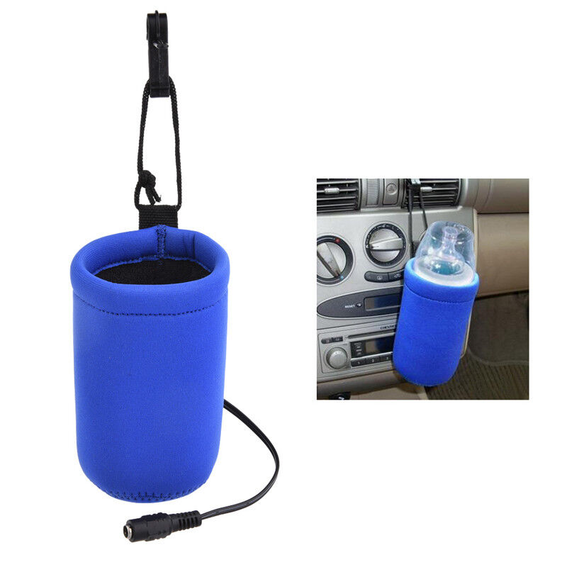 12V Food Milk Water Drink Bottle Cup Warmer Heater Car Auto Travel Baby ND