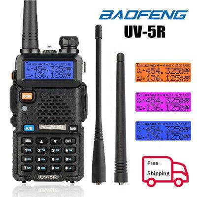Baofeng Walkie Talkie UV-5R VHF UHF Dual Band 128CH Two Way Ham Radio Earphone