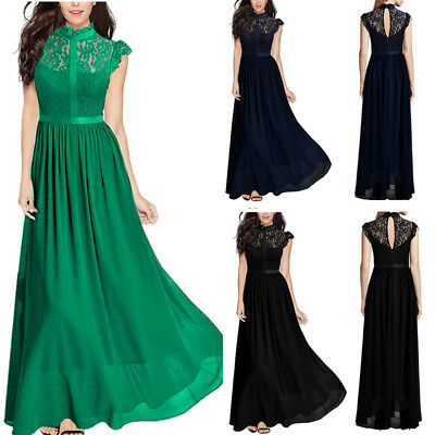 - Women Lace Chiffon Dress Cocktail Party Evening Formal Wedding Bridesmaid Gown