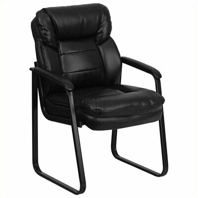 Pemberly Row Executive Side Office Guest Chair In Black