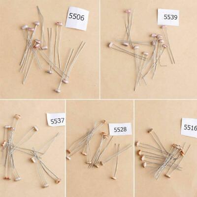 5 Types 50 Pcs Photoresistor Dependent Light Resistor LDR Pack Kit
