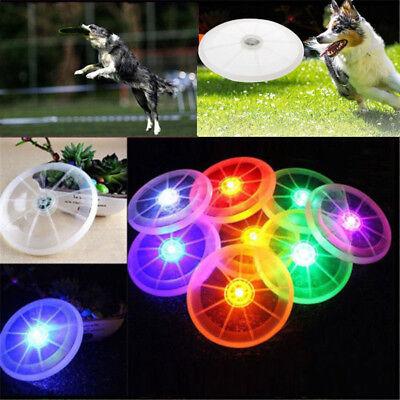 Flying Disc Toy (Dog LED Flashing Light Up Flying Disc Outdoor Night Luminous Toy F Pet)