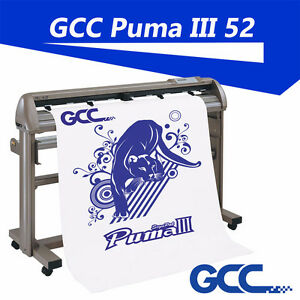 "GCC Puma III 52"" Vinyl Cutter Plotter optical eye auto-detection"