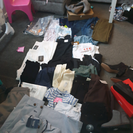 Large job lot of designer clothes and shoes brand new with tags