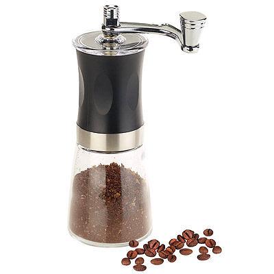 Hand-Kaffeemühle mit Keramik-Mahlwerk, stufenlos einstellbar, 19 cm