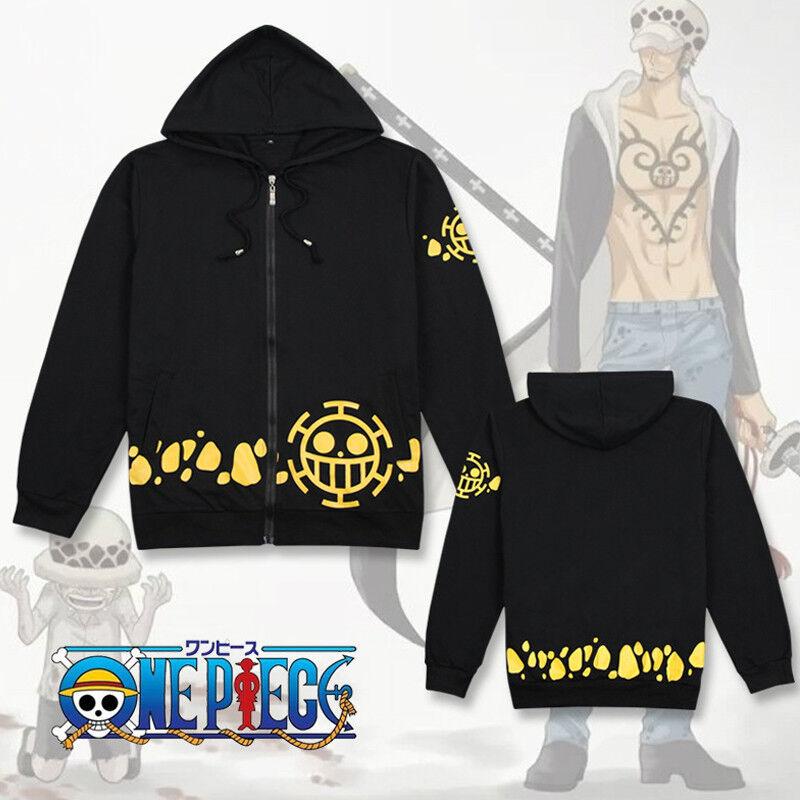 Hot Anime Cosplay Trafalgar Law Hoodie Hooded Sweatshirt Cotton Pullover