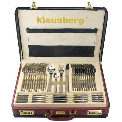 72-teilig Besteckset für 12 Personen im Koffer Glänz-Finish KLAUSBERG KB-7252